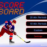 JD Hockey Scoreboard for iPad - Title Screen