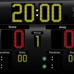 JD Hockey Scoreboard for iPad - LED Theme